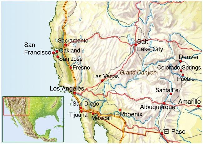 Landkarte Grand Canyon