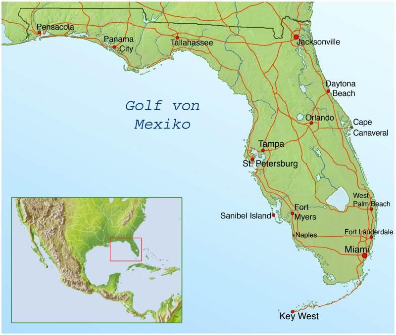 Florida Landkarte