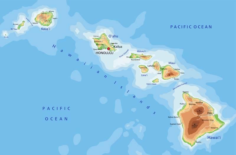 Hawaii Landkarte